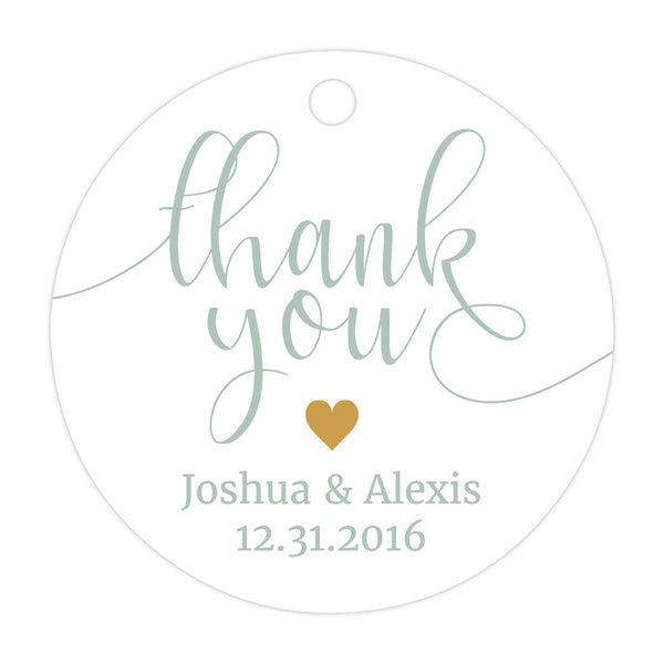 Thank you tags 'Whimsical Pastels' - Gold - Dazzling Daisies