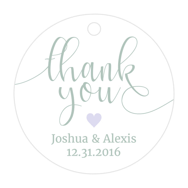 Thank you tags 'Whimsical Pastels' - Lavender - Dazzling Daisies