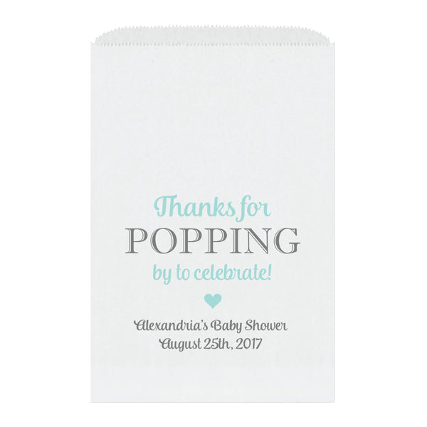 Thanks for popping by bags - Aquamarine - Dazzling Daisies