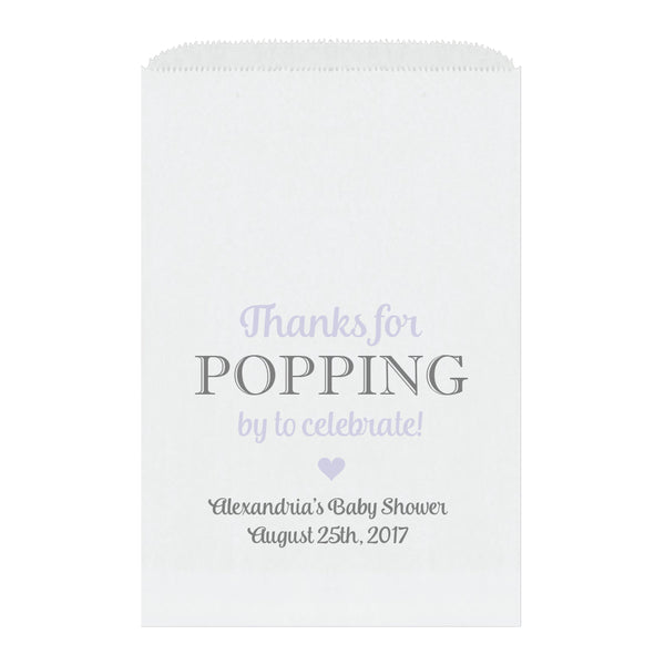 Thanks for popping by bags - Lavender - Dazzling Daisies