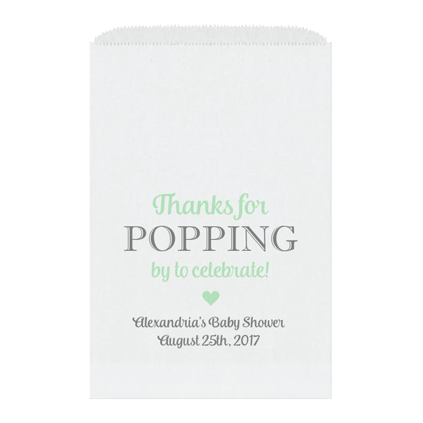 Thanks for popping by bags - Mint - Dazzling Daisies