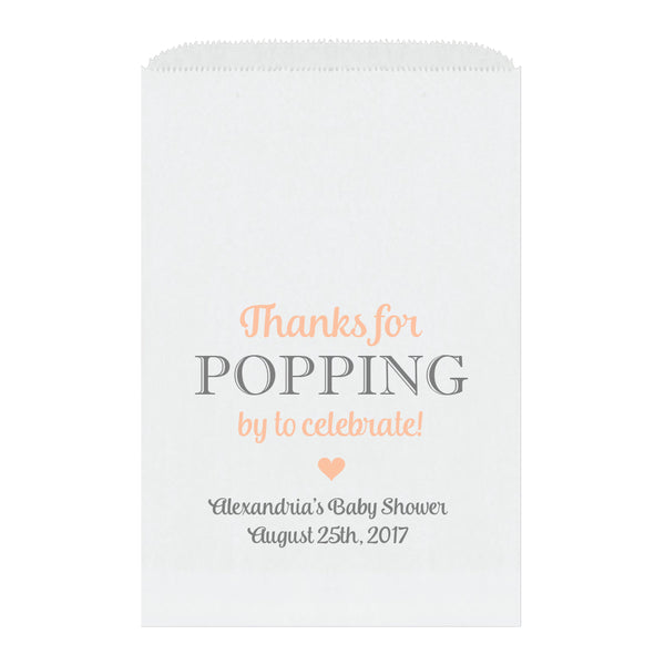 Thanks for popping by bags - Peach - Dazzling Daisies
