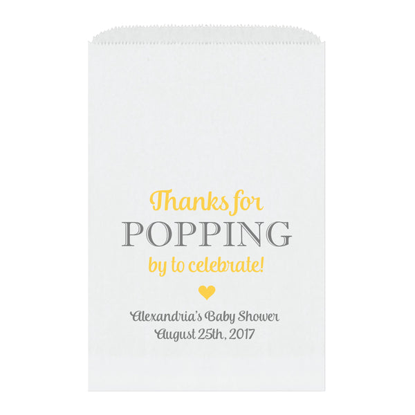 Thanks for popping by bags - Yellow - Dazzling Daisies