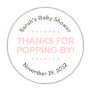 "Thanks for popping by stickers - 1.5"" circle = 30 labels per sheet / Blush - Dazzling Daisies"