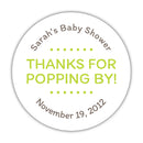 "Thanks for popping by stickers - 1.5"" circle = 30 labels per sheet / Lime - Dazzling Daisies"