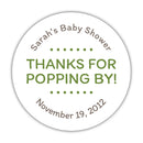 "Thanks for popping by stickers - 1.5"" circle = 30 labels per sheet / Olive - Dazzling Daisies"