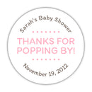 "Thanks for popping by stickers - 1.5"" circle = 30 labels per sheet / Pink - Dazzling Daisies"