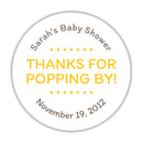 "Thanks for popping by stickers - 1.5"" circle = 30 labels per sheet / Yellow - Dazzling Daisies"