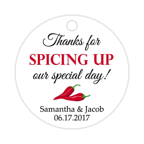 Thanks for spicing up our day tags - Indian red - Dazzling Daisies