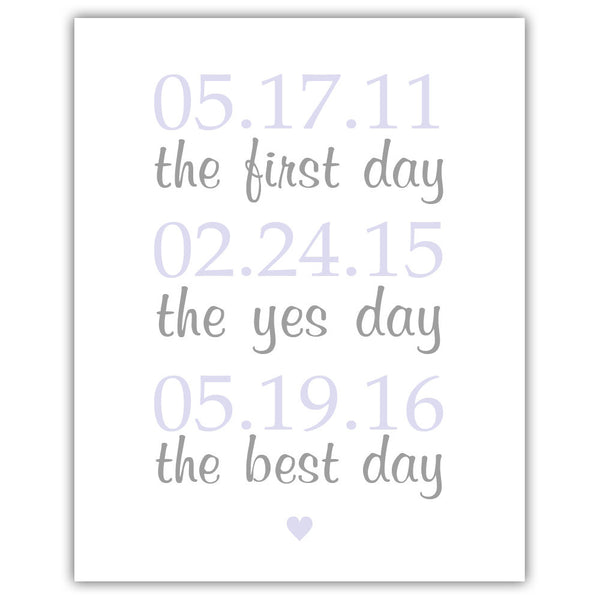"The first day sign - 5x7"" / Lavender - Dazzling Daisies"