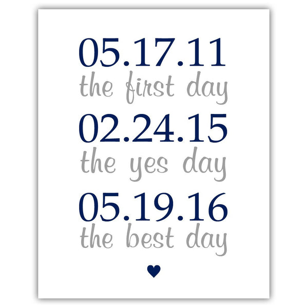 "The first day sign - 5x7"" / Navy - Dazzling Daisies"