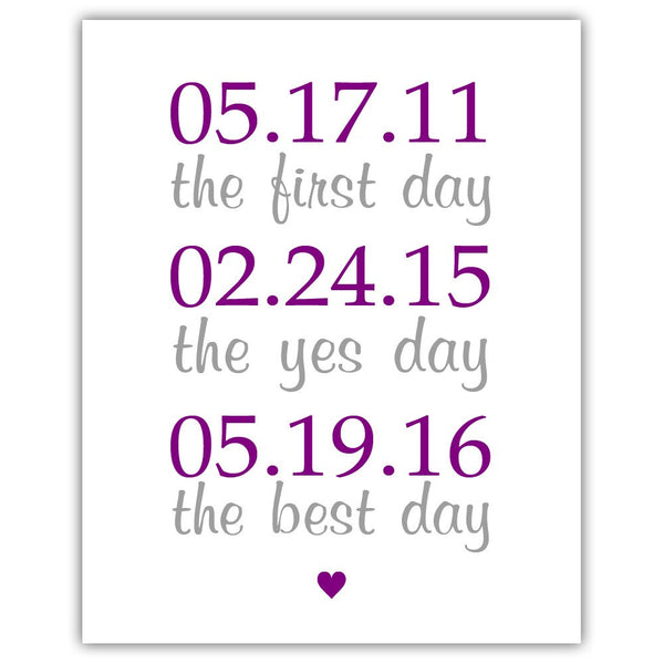"The first day sign - 5x7"" / Purple - Dazzling Daisies"