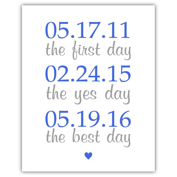"The first day sign - 5x7"" / Royal blue - Dazzling Daisies"