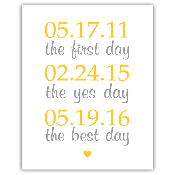 "The first day sign - 5x7"" / Yellow - Dazzling Daisies"