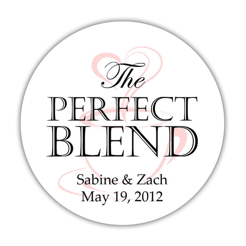 "The perfect blend stickers - 1.5"" circle = 30 labels per sheet / Black/Blush - Dazzling Daisies"