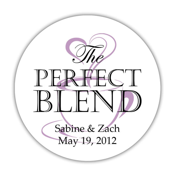 "The perfect blend stickers - 1.5"" circle = 30 labels per sheet / Black/Plum - Dazzling Daisies"