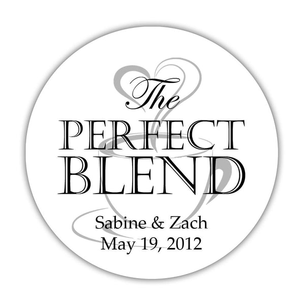 "The perfect blend stickers - 1.5"" circle = 30 labels per sheet / Black/Silver - Dazzling Daisies"