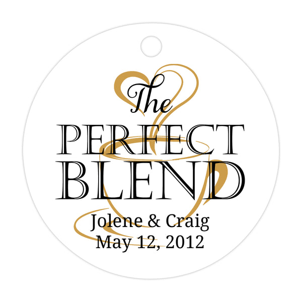 The perfect blend tags - Black/Gold - Dazzling Daisies