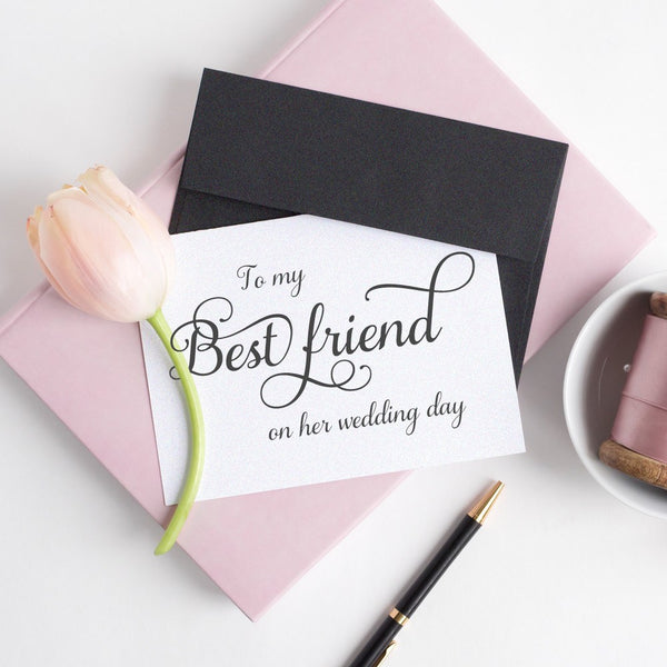 To my best friend card 'Excellent Elegance' - White - Dazzling Daisies
