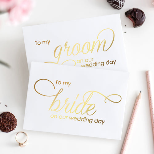 To my bride card and to my groom card foil - Gold foil - Dazzling Daisies