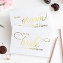 To my bride and to my groom cards