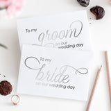 To my bride and to my groom cards 'Luxury Love' - Silver foil - Dazzling Daisies