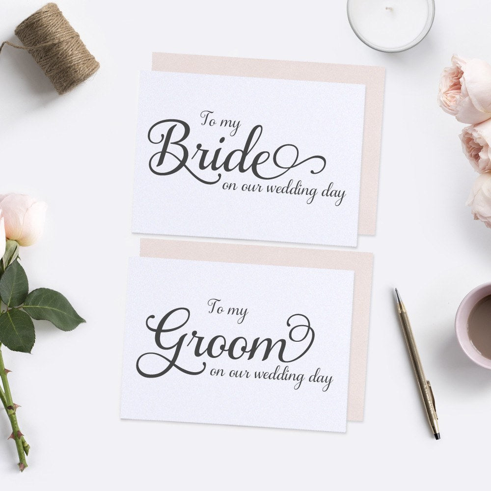 to my bride card and to my groom card elegant  dazzling
