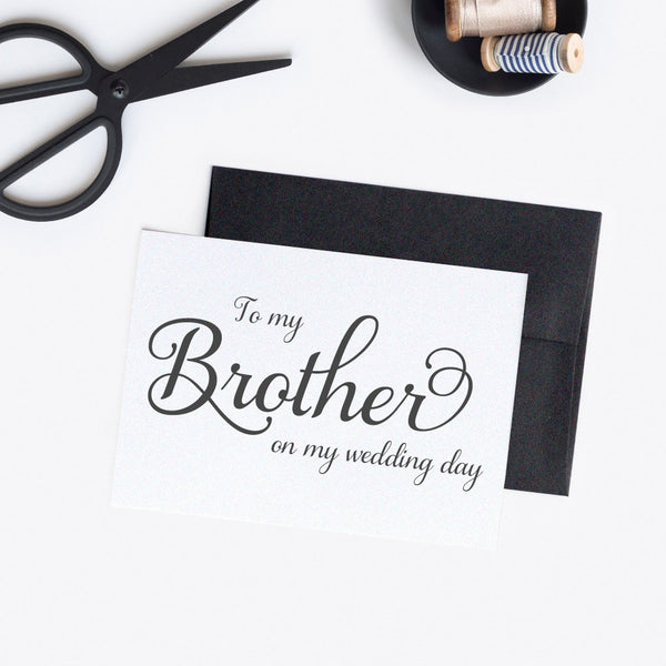 To my brother on my wedding day card 'Excellent Elegance' -  - Dazzling Daisies