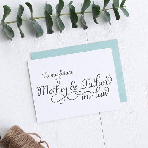 To my future Mother and Father in law card elegant -  - Dazzling Daisies