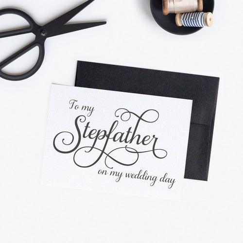 To my Stepfather card elegant -  - Dazzling Daisies