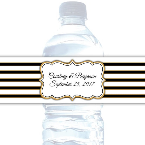 Water bottle labels 'Bold Lines' -  - Dazzling Daisies