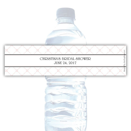 Water bottle labels 'Dazzling Diamonds' - Blush - Dazzling Daisies