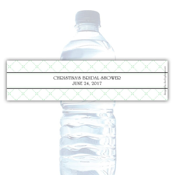 Water bottle labels 'Dazzling Diamonds' - Mint - Dazzling Daisies