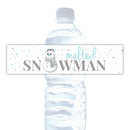 Melted snowman water bottle labels - Aquamarine - Dazzling Daisies