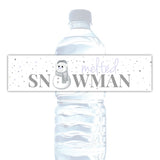 Melted snowman water bottle labels - Lavender - Dazzling Daisies