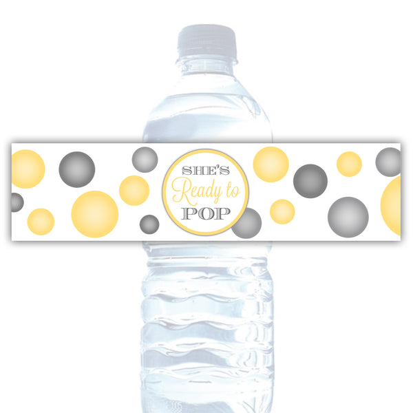 Ready to pop water bottle labels - Sunrise - Dazzling Daisies