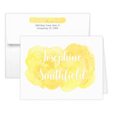 Watercolor note cards 'Bold Splash' - Yellow - Dazzling Daisies
