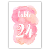 Watercolor table numbers - 1-6 / Pink - Dazzling Daisies