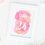 Watercolor table numbers -  - Dazzling Daisies