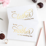 To my mother and to my father cards 'Luxury Love' - Gold foil - Dazzling Daisies
