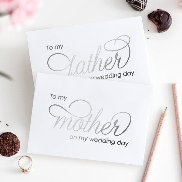 To my mother and to my father cards 'Luxury Love' - Silver foil - Dazzling Daisies