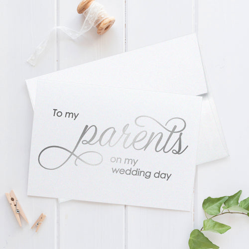 To my parents card Foil - Silver foil - Dazzling Daisies