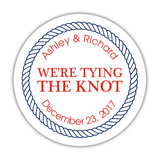 We're tying the knot stickers 'Rope Circle' - 1.5