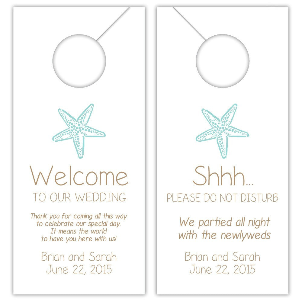 Super Wedding door hangers 'Beach Beauty' | Dazzling Daisies CQ53