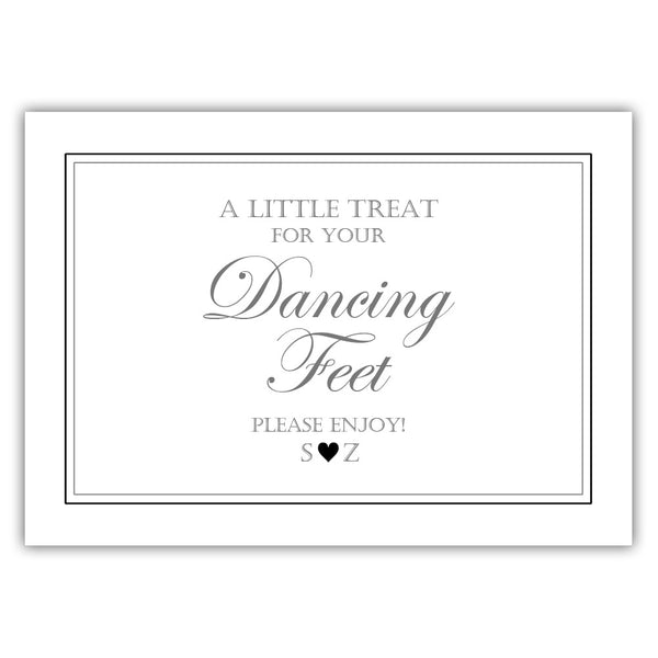 "Wedding dancing shoes sign - 5x7"" / Black - Dazzling Daisies"