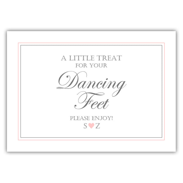 "Wedding dancing shoes sign - 5x7"" / Blush - Dazzling Daisies"
