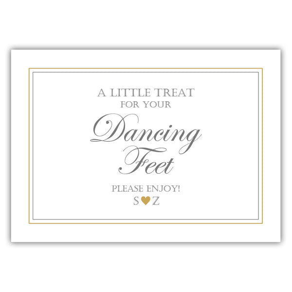 "Wedding dancing shoes sign - 5x7"" / Gold - Dazzling Daisies"