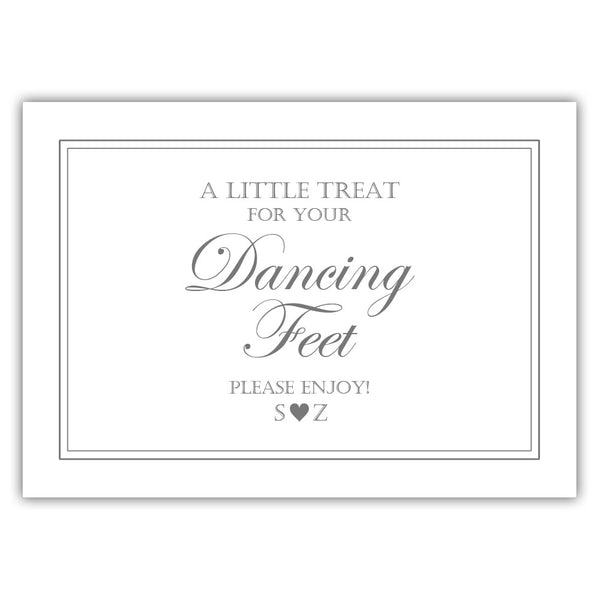 "Wedding dancing shoes sign - 5x7"" / Gray - Dazzling Daisies"