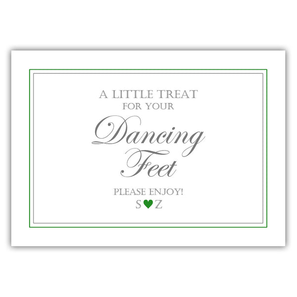 "Wedding dancing shoes sign - 5x7"" / Green - Dazzling Daisies"
