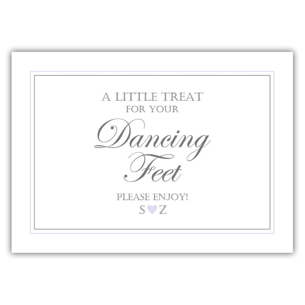 "Wedding dancing shoes sign - 5x7"" / Lavender - Dazzling Daisies"
